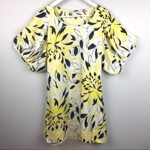 Banana Republic Silk Puff Sleeves Dress XS